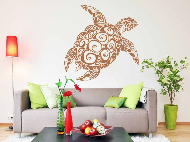 Samolepky na zeď Želva 001 - Samolepící dekorace a nálepka na stěnu