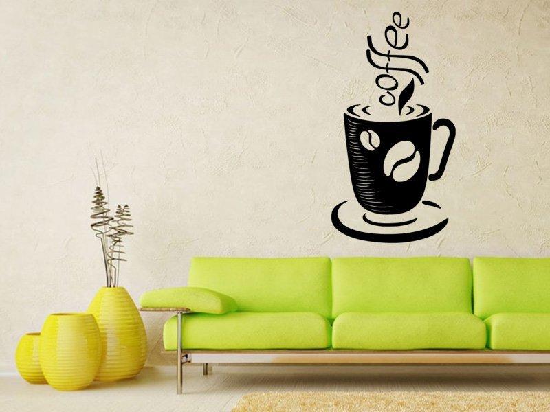 Samolepky na zeď Hrnek kávy 0050 - Samolepící dekorace a nálepka na stěnu