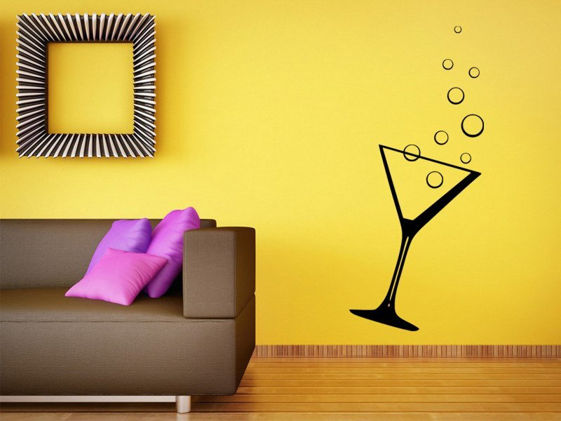 Samolepky na zeď Sklenice s bublinami 0097 - Samolepící dekorace a nálepka na stěnu