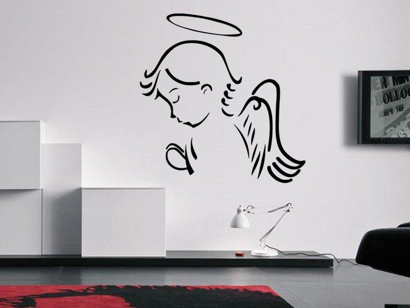 Samolepky na zeď Anděl se modlí 1237 - Samolepící dekorace a nálepka na stěnu