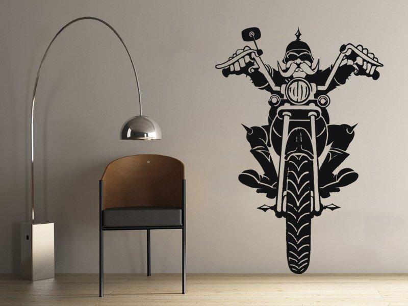 Samolepky na zeď Motorkar 001 - Samolepící dekorace a nálepka na stěnu