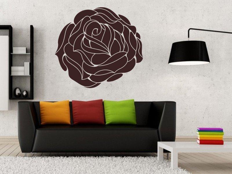 Samolepky na zeď Růže 006 - Samolepící dekorace a nálepka na stěnu