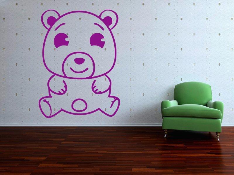 Samolepky na zeď Medvídek 001 - Samolepící dekorace a nálepka na stěnu