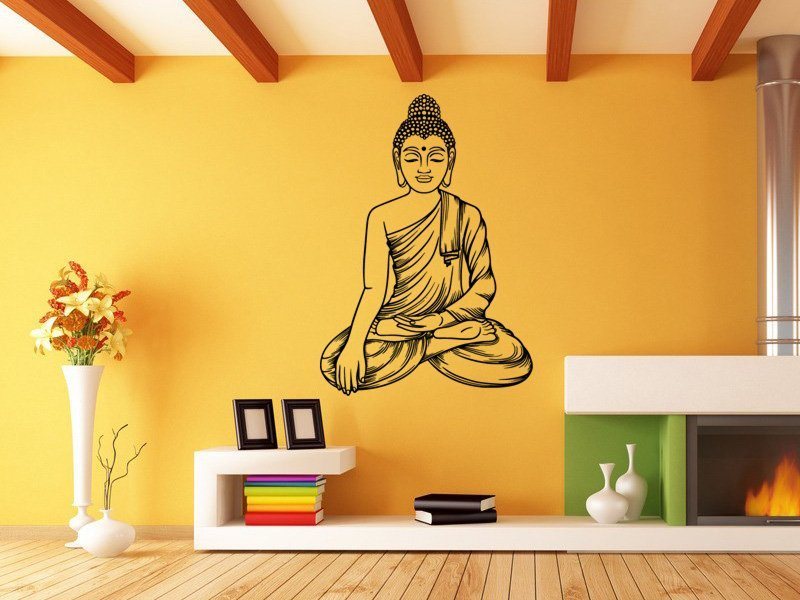 Samolepky na zeď Sedící Budha 1295 - Samolepící dekorace a nálepka na stěnu