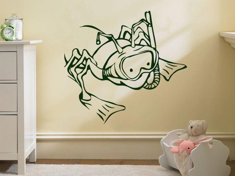 Samolepky na zeď Žába 006 - Samolepící dekorace a nálepka na stěnu