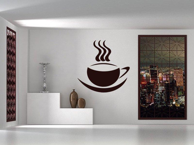 Samolepky na zeď Hrnek kávy 0045 - Samolepící dekorace a nálepka na stěnu