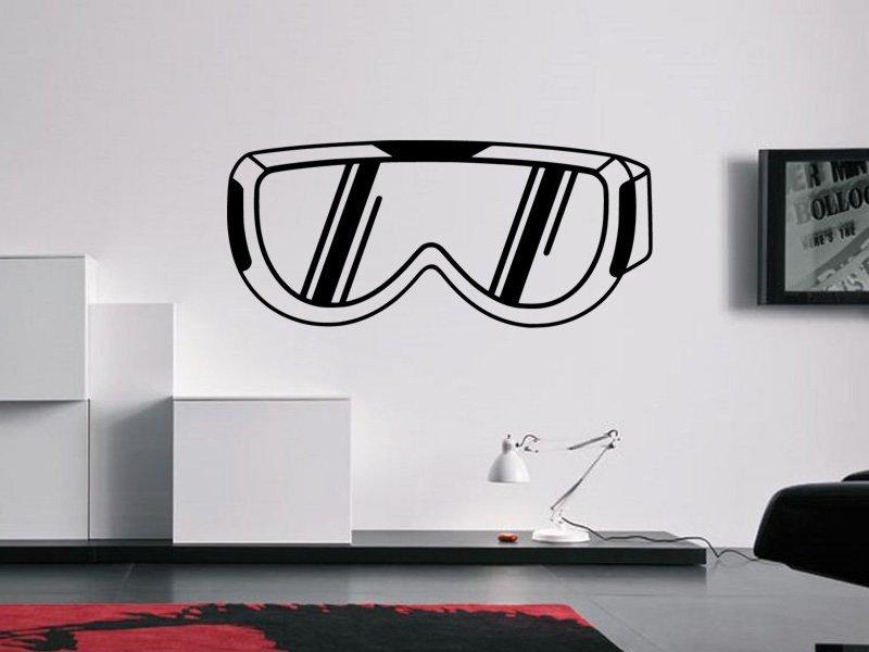 Samolepky na zeď Brýle na snowboard 0975 - Samolepící dekorace a nálepka na stěnu