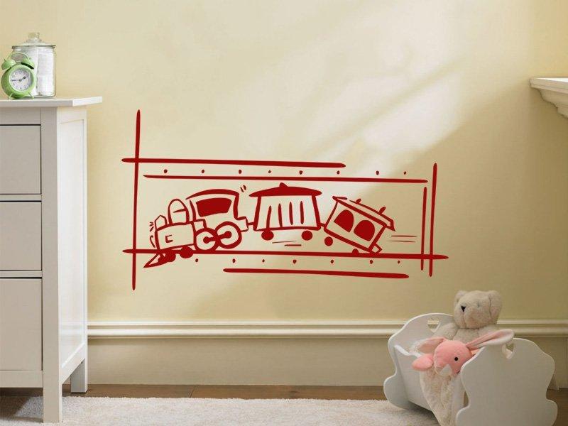 Samolepky na zeď Vláček 002 - Samolepící dekorace a nálepka na stěnu