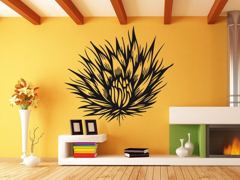Samolepky na zeď Kytka 006 - Samolepící dekorace a nálepka na stěnu