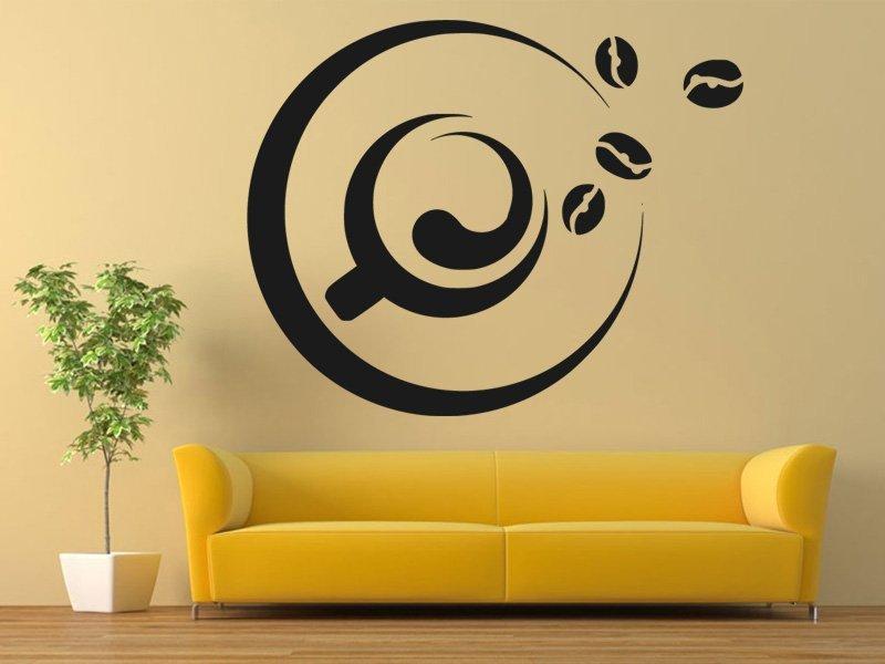 Samolepky na zeď Hrnek kávy 0099 - Samolepící dekorace a nálepka na stěnu