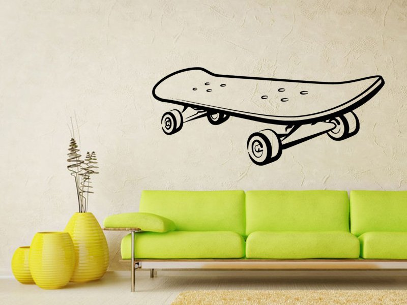 Samolepky na zeď Skateboard 0960 - Samolepící dekorace a nálepka na stěnu
