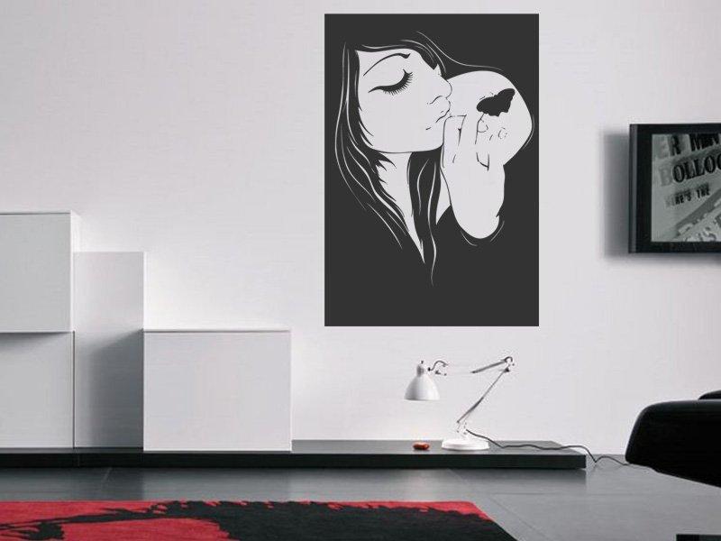 Samolepky na zeď Dívka 018 - Samolepící dekorace a nálepka na stěnu