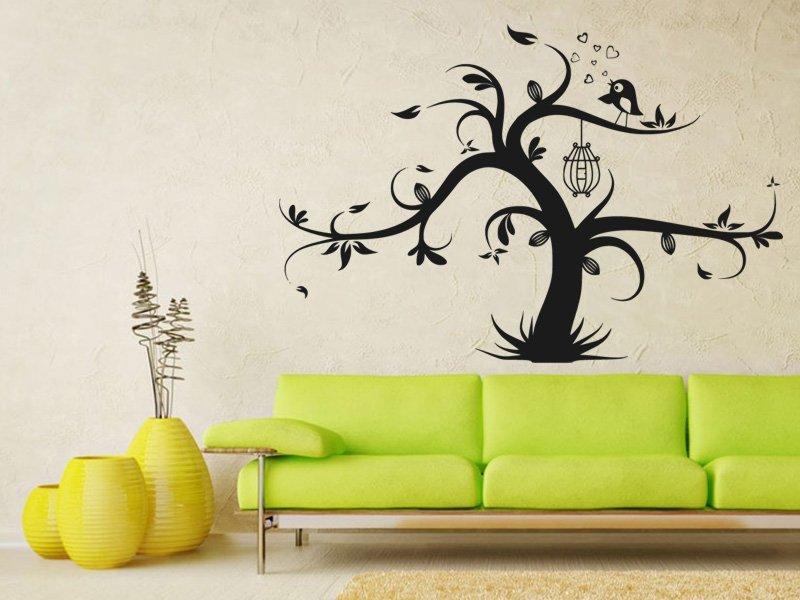 Samolepky na zeď Strom zamilovaných 0234 - Samolepící dekorace a nálepka na stěnu