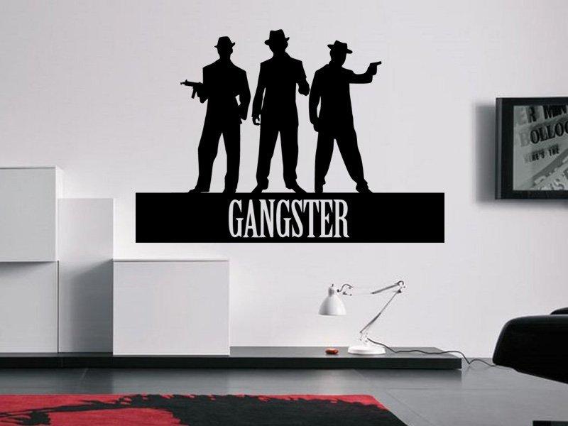 Samolepky na zeď Nápis Gangster 0237 - Samolepící dekorace a nálepka na stěnu