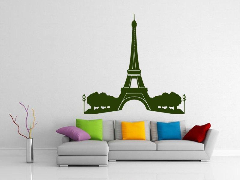 Samolepky na zeď Eifelova věž 008 - Samolepící dekorace a nálepka na stěnu
