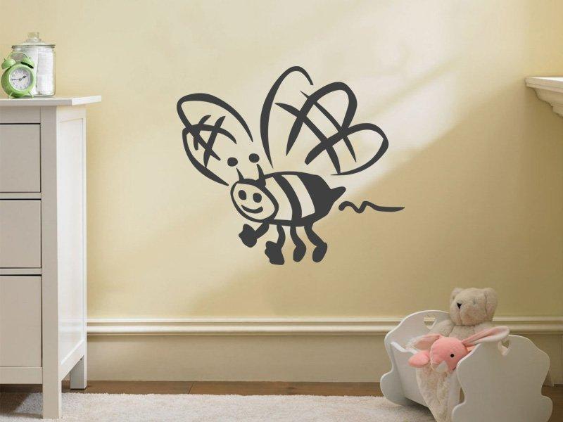 Samolepky na zeď Včela 002 - Samolepící dekorace a nálepka na stěnu