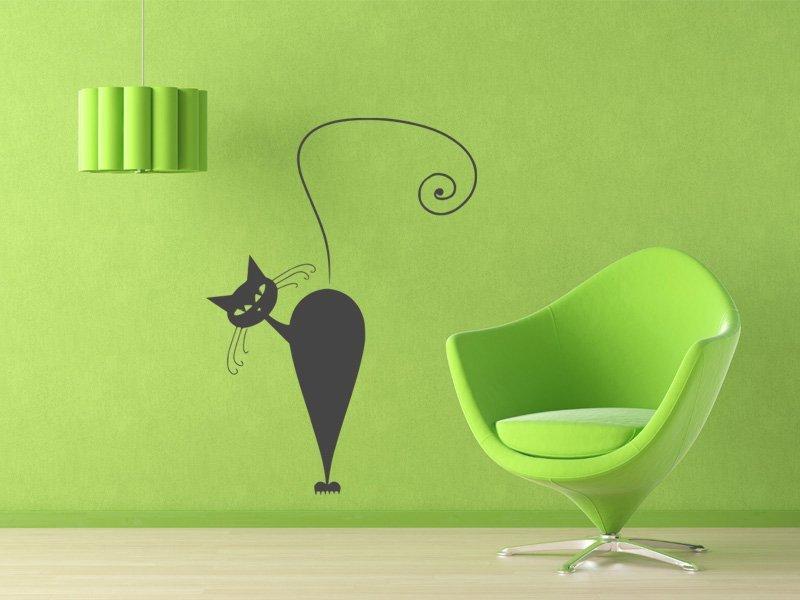Samolepky na zeď Kočka 006 - Samolepící dekorace a nálepka na stěnu