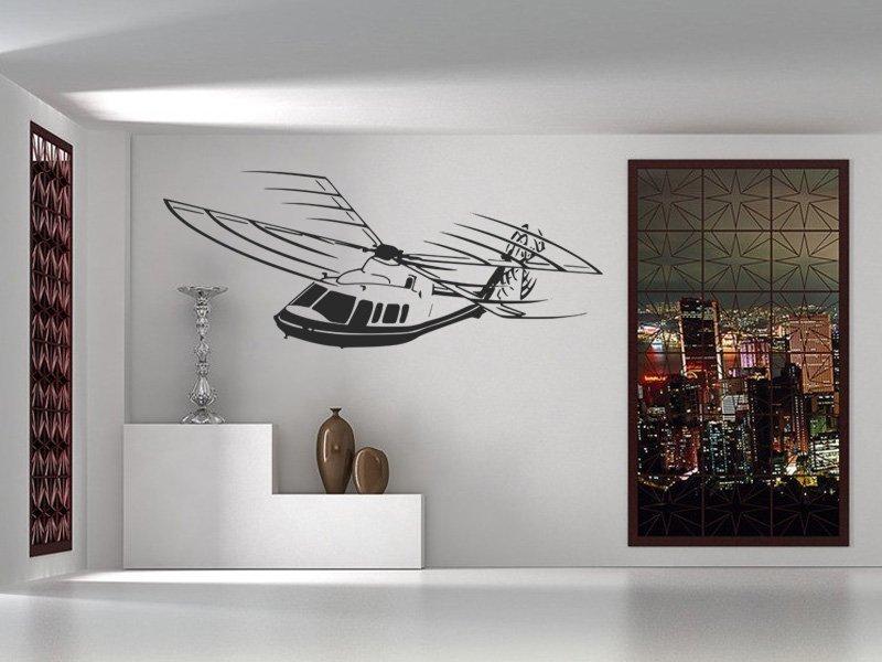 Samolepky na zeď Helikoptéra 003 - Samolepící dekorace a nálepka na stěnu