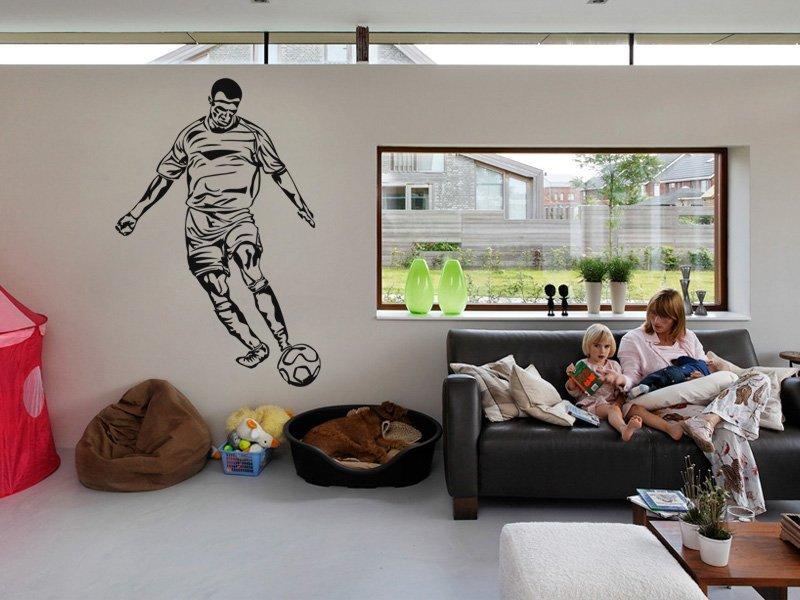 Samolepky na zeď Fotbalista 016 - Samolepící dekorace a nálepka na stěnu