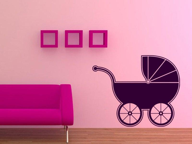 Samolepky na zeď Kočárek 001 - Samolepící dekorace a nálepka na stěnu