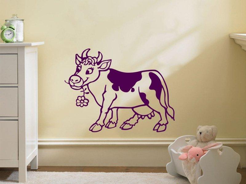 Samolepky na zeď Kráva 005 - Samolepící dekorace a nálepka na stěnu