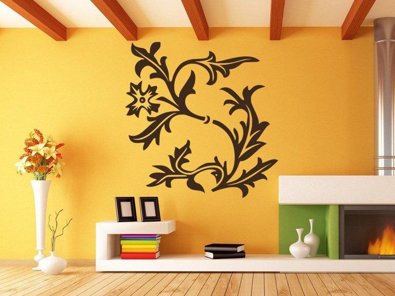 Samolepky na zeď Květiny 043 - Samolepící dekorace a nálepka na stěnu