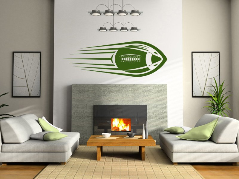 Samolepky na zeď Americký fotbal 003 - Samolepící dekorace a nálepka na stěnu