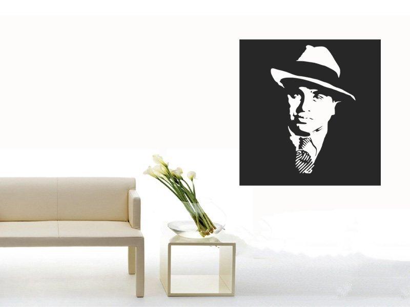 Samolepky na zeď Al Capone 001 - Samolepící dekorace a nálepka na stěnu