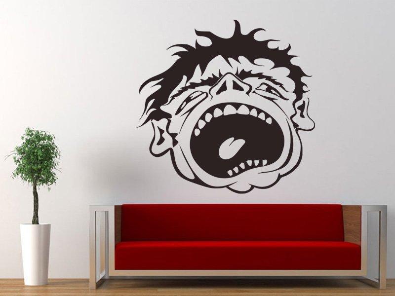 Samolepky na zeď Obličej 001 - Samolepící dekorace a nálepka na stěnu
