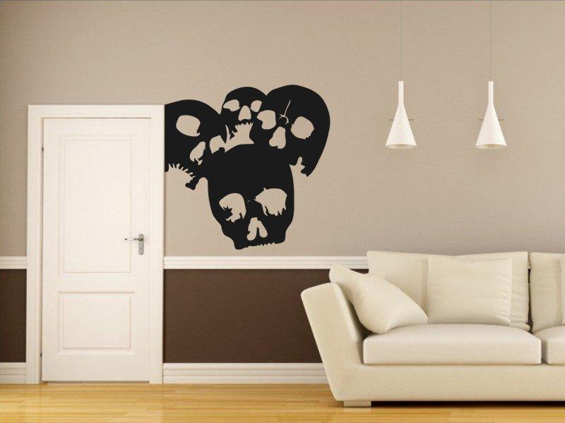 Samolepky na zeď Lebky 001 - Samolepící dekorace a nálepka na stěnu