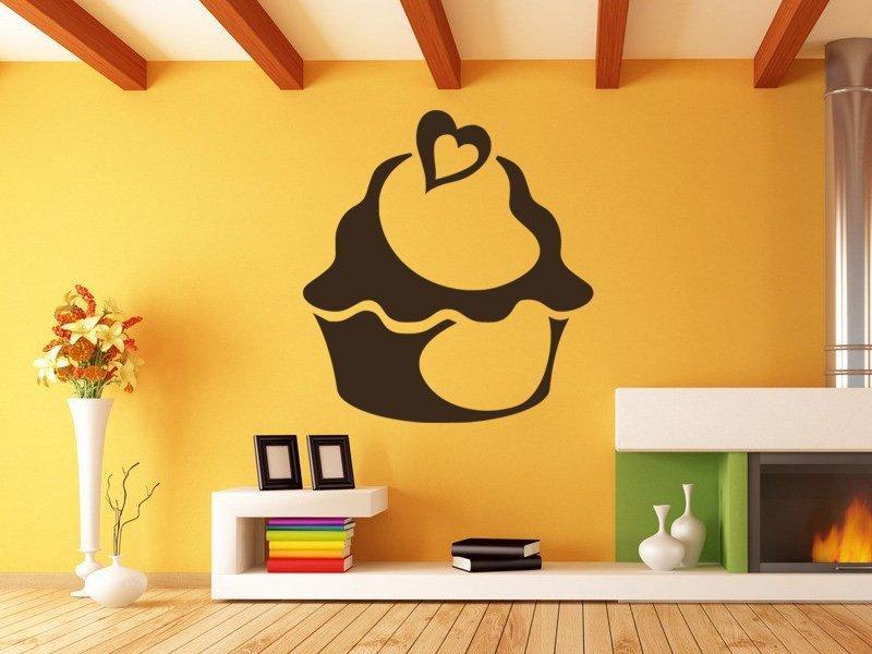 Samolepky na zeď Cupcake 0011 - Samolepící dekorace a nálepka na stěnu