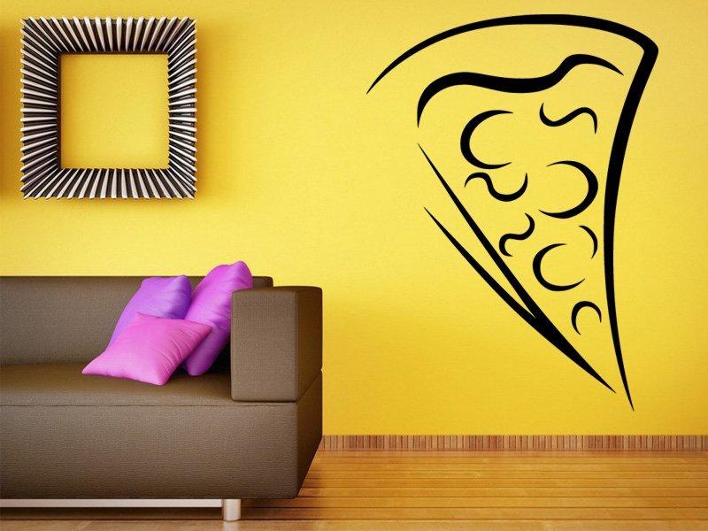 Samolepky na zeď Pizza 0118 - Samolepící dekorace a nálepka na stěnu