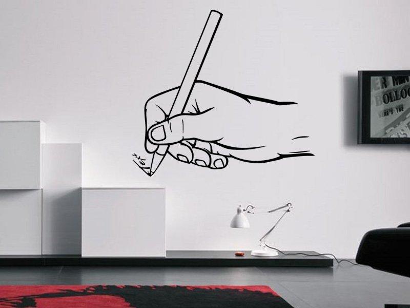 Samolepky na zeď Píšící ruka 0240 - Samolepící dekorace a nálepka na stěnu