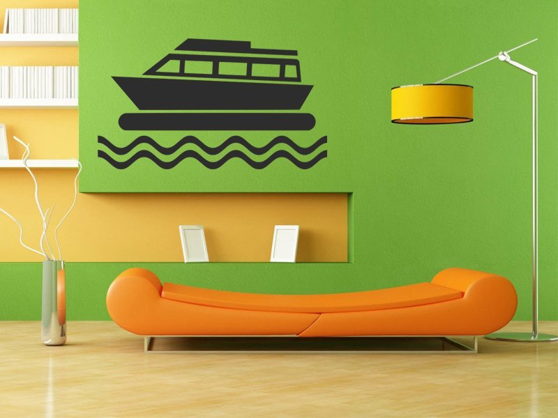 Samolepky na zeď Loď 008 - Samolepící dekorace a nálepka na stěnu