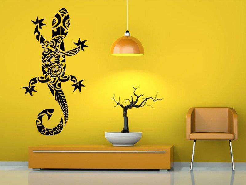 Samolepky na zeď Ještěrka 003 - Samolepící dekorace a nálepka na stěnu