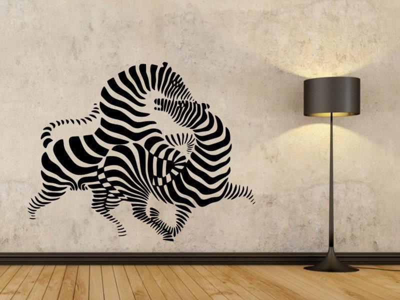 Samolepky na zeď Zebra 010 - Samolepící dekorace a nálepka na stěnu