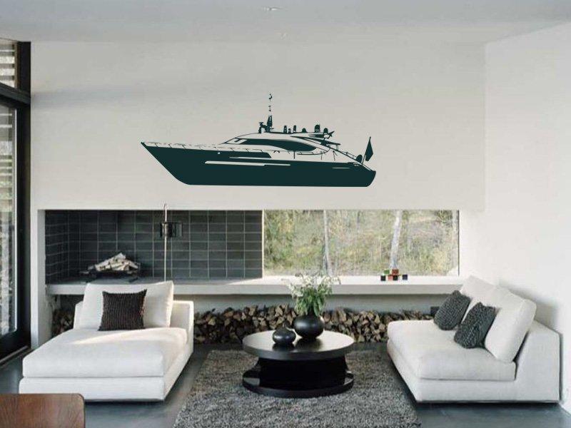Samolepky na zeď Loď 015 - Samolepící dekorace a nálepka na stěnu