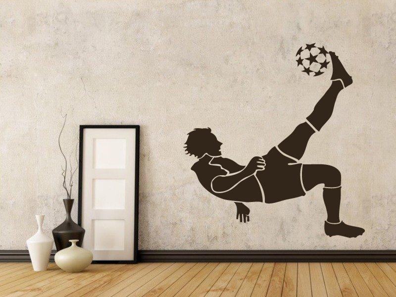 Samolepky na zeď Fotbalista 001 - Samolepící dekorace a nálepka na stěnu