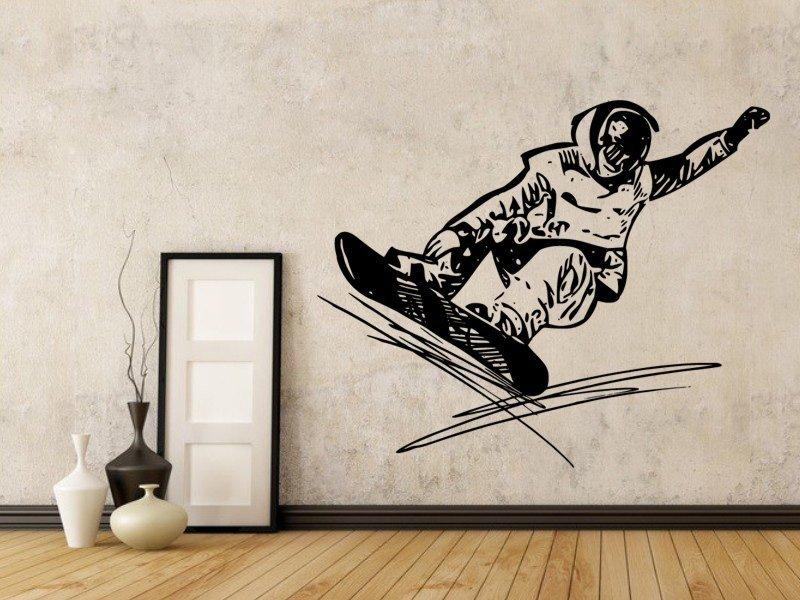 Samolepky na zeď Snowboardista 0969 - Samolepící dekorace a nálepka na stěnu