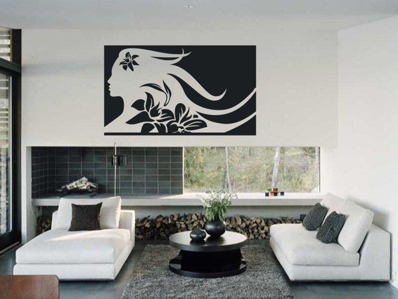 Samolepky na zeď Slečna 002 - Samolepící dekorace a nálepka na stěnu
