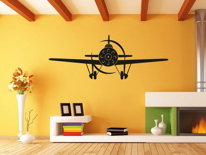 Samolepky na zeď Letadlo 010 - Samolepící dekorace a nálepka na stěnu