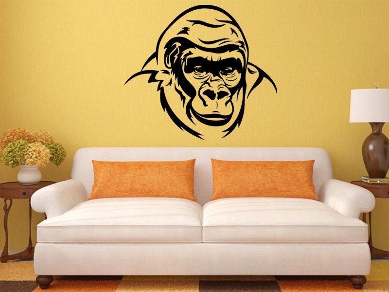 Samolepky na zeď Gorila 002 - Samolepící dekorace a nálepka na stěnu
