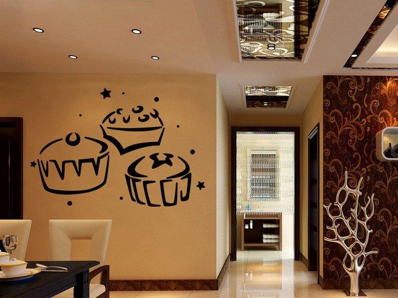 Samolepky na zeď Cupcake 0108 - Samolepící dekorace a nálepka na stěnu