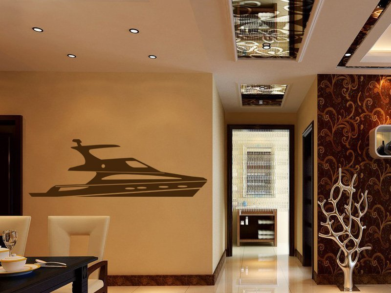 Samolepky na zeď Loď 013 - Samolepící dekorace a nálepka na stěnu