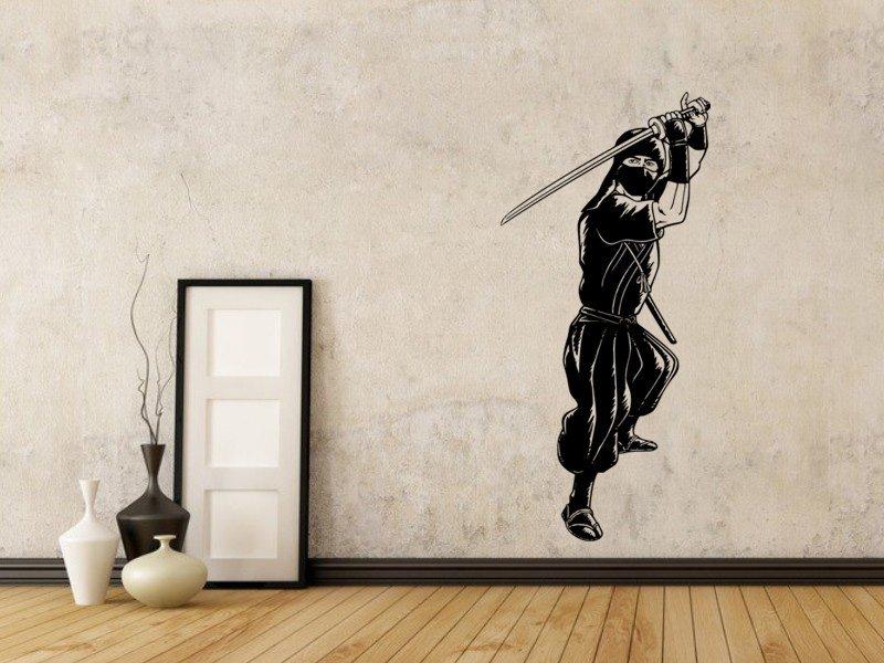 Samolepky na zeď Ninja 001 - Samolepící dekorace a nálepka na stěnu