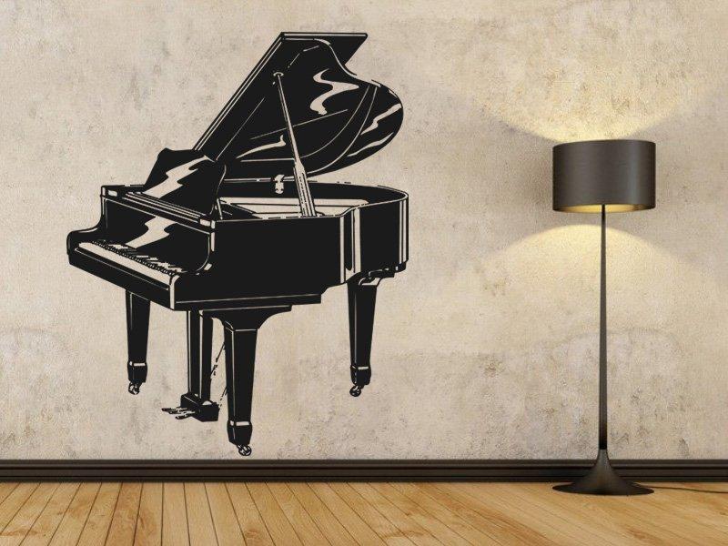 Samolepky na zeď Piano 001 - Samolepící dekorace a nálepka na stěnu