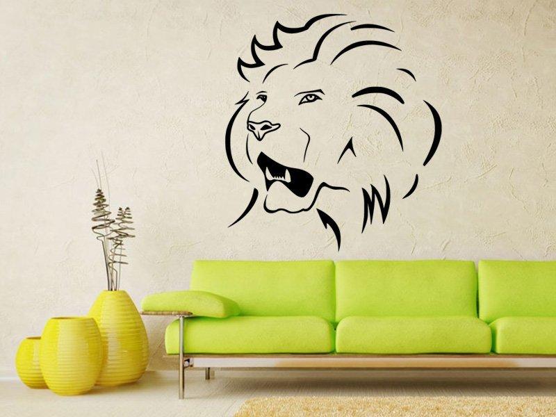 Samolepky na zeď Lev 015 - Samolepící dekorace a nálepka na stěnu