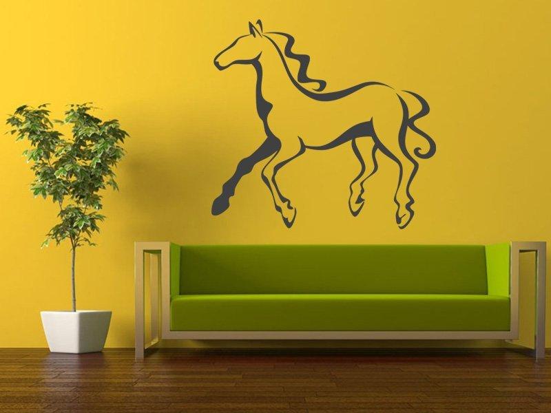 Samolepky na zeď Kůň 028 - Samolepící dekorace a nálepka na stěnu