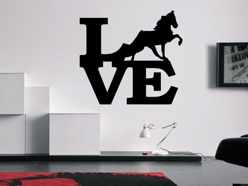 Samolepky na zeď Láska ke koním 0406 - Samolepící dekorace a nálepka na stěnu