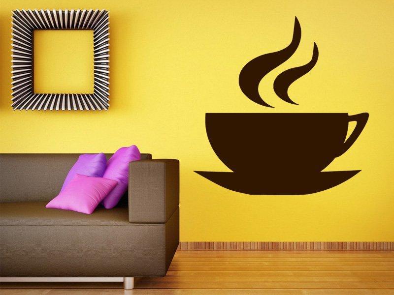 Samolepky na zeď Hrnek kávy 0047 - Samolepící dekorace a nálepka na stěnu